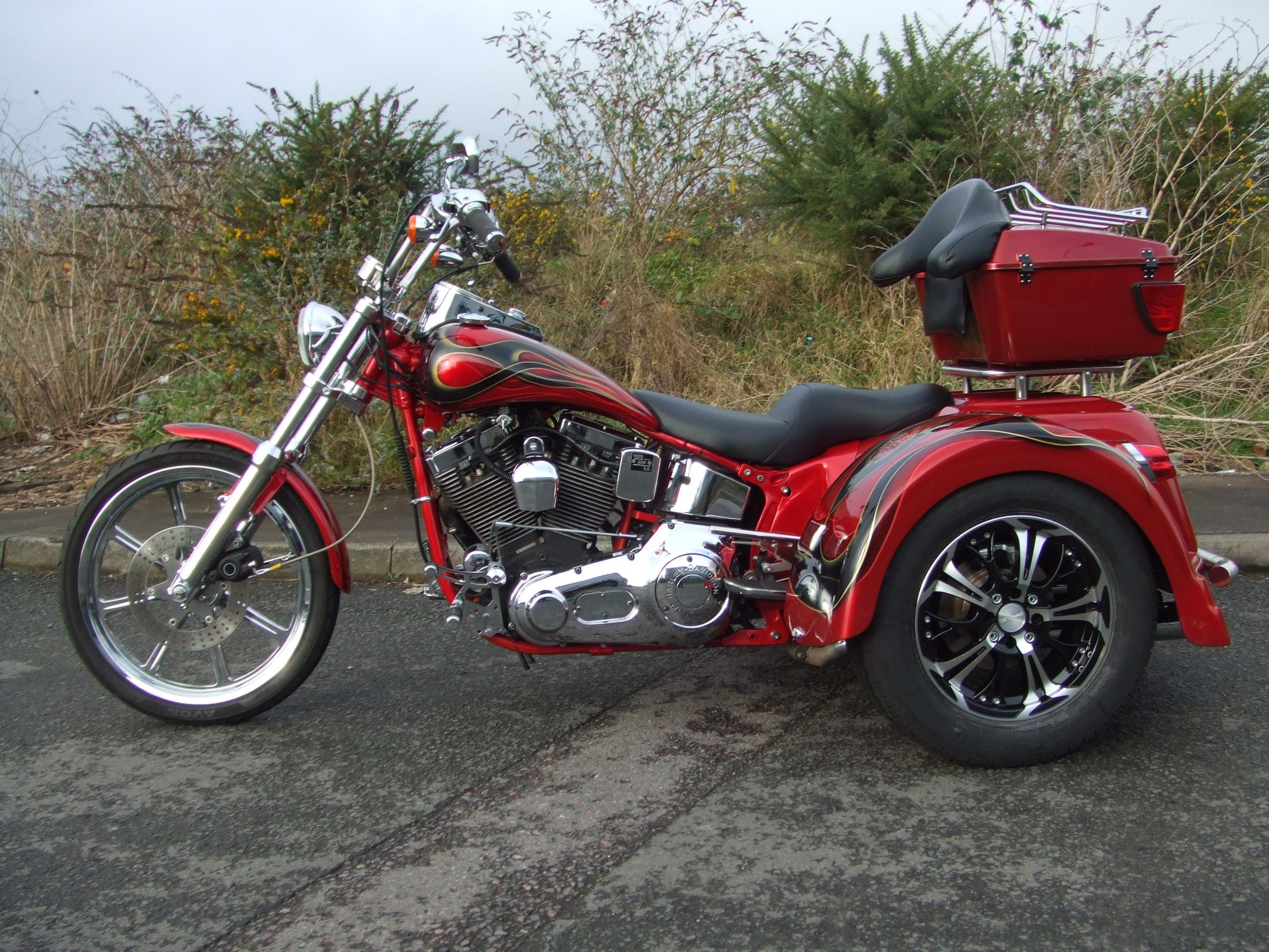 Red Bodied Softail (4)